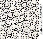 smile face seamless pattern.... | Shutterstock .eps vector #575494432