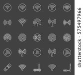 wifi vector icon. set of... | Shutterstock .eps vector #575497966