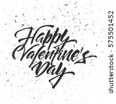 happy valentine's day lettering.... | Shutterstock .eps vector #575501452