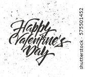 happy valentine's day lettering.... | Shutterstock .eps vector #575501452
