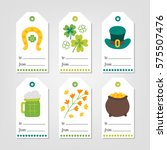 set of st. patrick's day gift... | Shutterstock .eps vector #575507476
