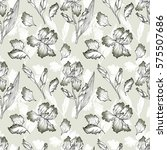 floral seamless pattern with... | Shutterstock . vector #575507686