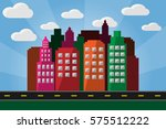 city landscape.vector and... | Shutterstock .eps vector #575512222