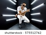 young handsome hipster man... | Shutterstock . vector #575512762