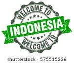 indonesia. welcome to indonesia ... | Shutterstock .eps vector #575515336