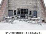 outdoor cafe in the north of... | Shutterstock . vector #57551635