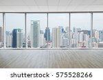 interior space of modern empty... | Shutterstock . vector #575528266