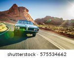 Driving Fast Through Desert In...