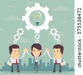 vector teamwork concept.... | Shutterstock .eps vector #575538472