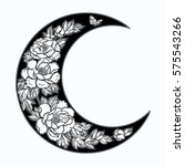 beautiful romantic crescent... | Shutterstock .eps vector #575543266