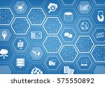 cloud computing background with ... | Shutterstock .eps vector #575550892