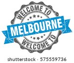 melbourne. welcome to melbourne ... | Shutterstock .eps vector #575559736