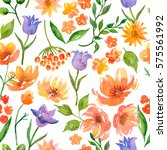 watercolor seamless pattern of... | Shutterstock . vector #575561992