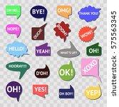 speech bubble colorful set... | Shutterstock . vector #575563345