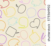 speech bubbles seamless pattern | Shutterstock .eps vector #575564902