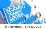 education and training services ... | Shutterstock . vector #575567326
