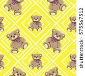 bear seamless pattern vector on ... | Shutterstock .eps vector #575567512