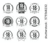 18th birthday celebration. set...   Shutterstock .eps vector #575568232