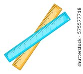 two crossed rulers icon.... | Shutterstock . vector #575577718