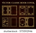 vector set of book covers .... | Shutterstock .eps vector #575592946