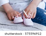 Baby Shoes. Stylish Baby Pink...