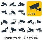 security camera icons  video... | Shutterstock .eps vector #575599102