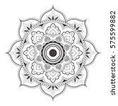 mandala line art for anti... | Shutterstock .eps vector #575599882