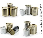 stacked cans of food | Shutterstock . vector #575601496