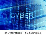 digital binary data on computer ... | Shutterstock . vector #575604886