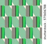 seamless geometric retro pattern | Shutterstock .eps vector #575606788