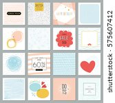 universal square cards... | Shutterstock .eps vector #575607412