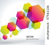abstract vector background. | Shutterstock .eps vector #57561136