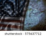 usa flag vintage background | Shutterstock . vector #575637712