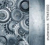 3d metallic gears background | Shutterstock . vector #575651032