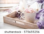 coffee cup  open book ... | Shutterstock . vector #575655256