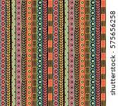 seamless vector tribal texture. ... | Shutterstock .eps vector #575656258