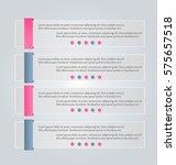 business infographics tabs... | Shutterstock .eps vector #575657518