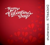 vector valentines day vector... | Shutterstock .eps vector #575662642