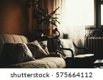 calm ambience of an old room ... | Shutterstock . vector #575664112