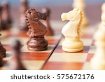 chess pieces knights facing... | Shutterstock . vector #575672176
