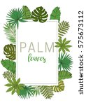 floral frame. collection with... | Shutterstock .eps vector #575673112