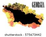georgia. high detailed vector... | Shutterstock .eps vector #575673442