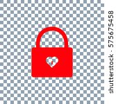lock icons. a simple silhouette ... | Shutterstock .eps vector #575675458