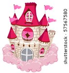pink castle   vector   Shutterstock .eps vector #57567580