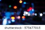city night light bokeh and... | Shutterstock . vector #575677015
