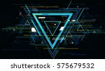 tech futuristic abstract... | Shutterstock .eps vector #575679532
