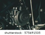 Closeup Of Motorcycle Engine