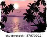 sun and sea   Shutterstock .eps vector #57570022