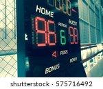 basketball score table or... | Shutterstock . vector #575716492