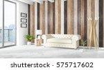modern bright interior . 3d... | Shutterstock . vector #575717602